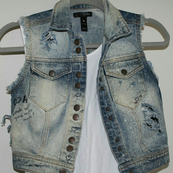 Fun Taylor Swift Inspired Distressed Jean Jacket
